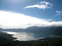 Mt Batur and its crater lake
