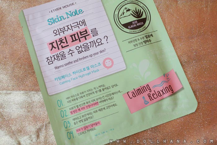 etude%2Bhouse%2Bskin%2Bnote%2Bcalming%2Brelaxing%2Bface%2Bhydrogel%2Bmask%2B%281%29 [Review] Etude House Skin Note Calming Face Hydrogel Mask