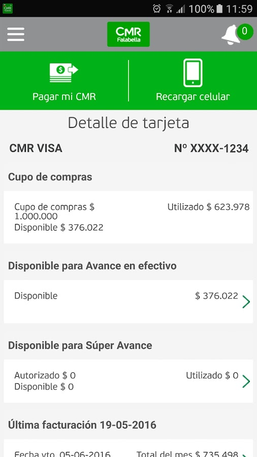CMR Falabella - Chile- screenshot