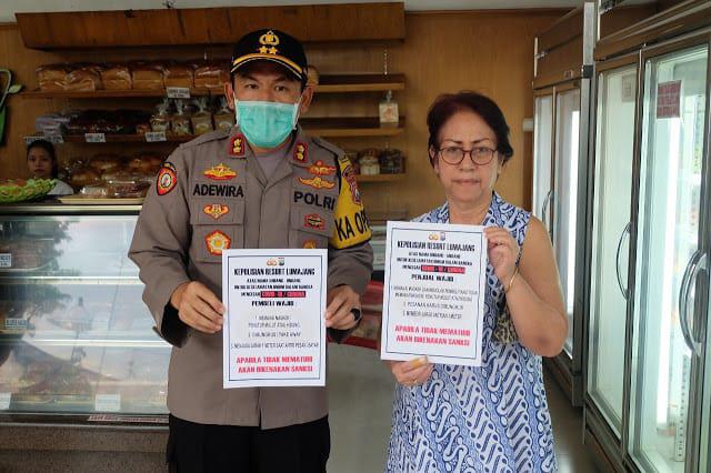 Kapolres Lumajang Gencar Lakukan Sosialisasi Bahayanya Virus Corona di Masyarakat