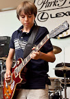 Entertaining the crowd was 13-year-old blues guitarist Matt Tedder of Weatherford.