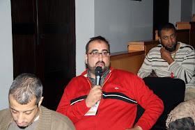 """Debate """"Situación actual del Islam de España y perspectivas de futuro"""". Aula Magna del edificio de La Nau de la Universitat de Valencia. Sábado 22 de octubre de 2011. Intervención congresista de Marruecos."""