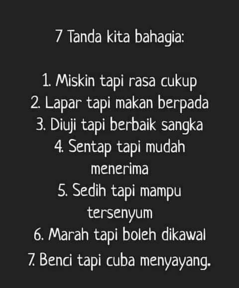 7 Tanda Kita Bahagia