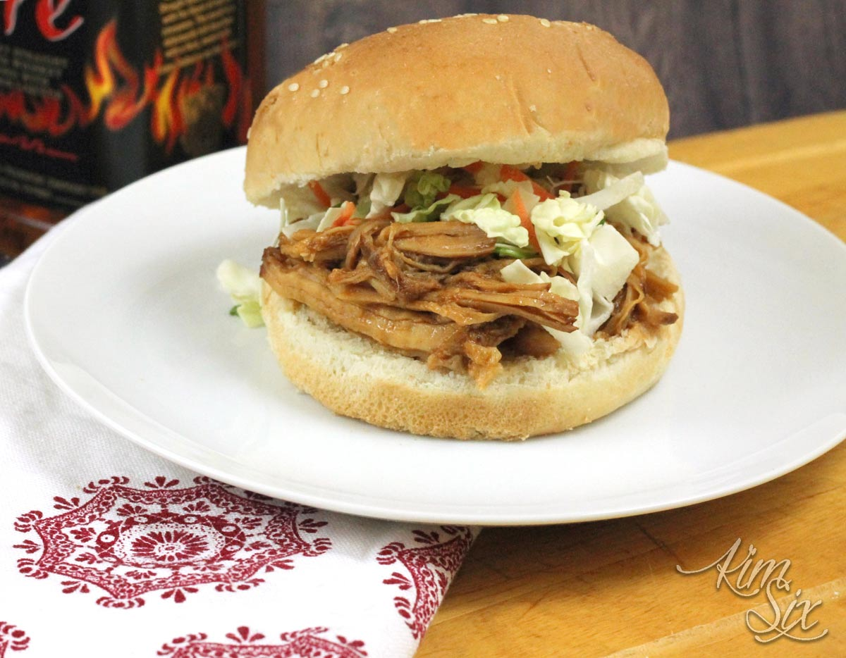 Crock Pot BBQ pulled pork sandwich