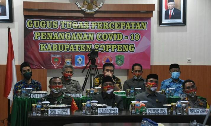 Panglima TNI dan Kapolri Berkunjung ke Sulsel, Bupati Soppeng dan Forkopimda Mengikuti Lewat Video Teleconfrence
