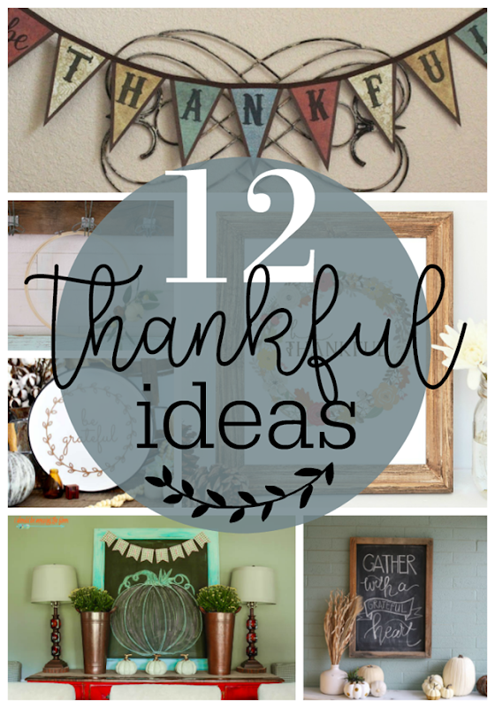 12 Thankful Ideas at GingerSnapCrafts.com #thankful #thanksgiving #crafts