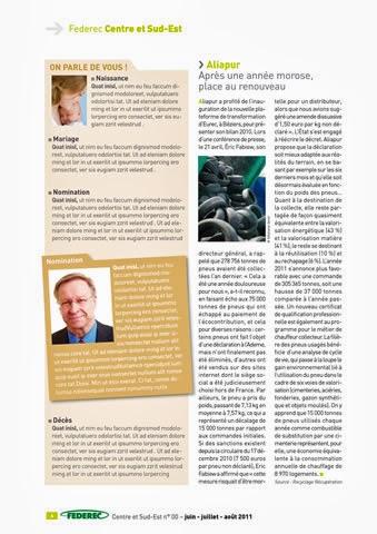 création magazine Federec région centre -Victoires 06