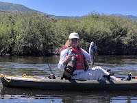 Hubby Kayaking on Provo River