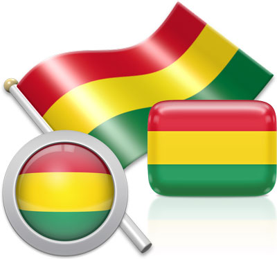 Bolivian flag icons pictures collection