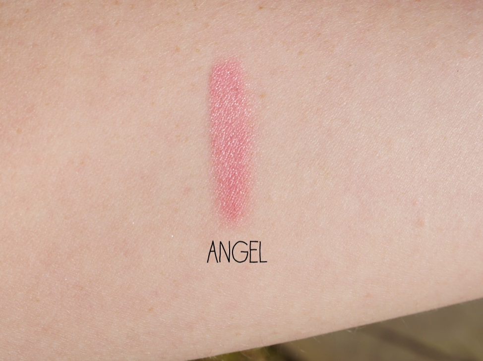 mac lipstick angel frost review swatch