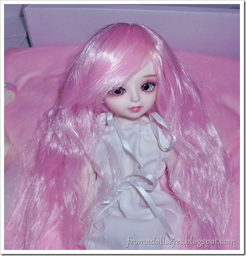 Pink Doll Love wig for yosd sized ball jointed dolls.