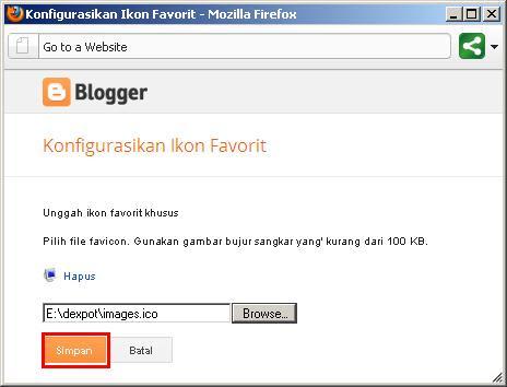 Mengganti Favicon Blogspot Tanpa Merubah Kode