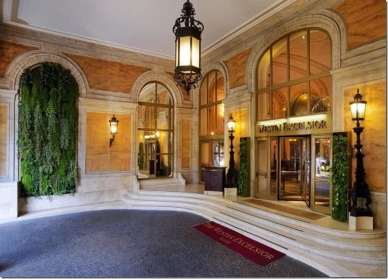 The Westin Excelsior, Rome-entrance