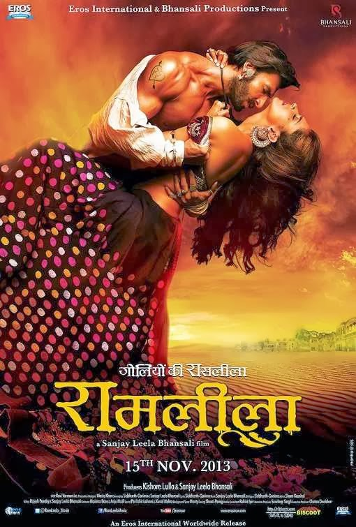 Poster Of Hindi Movie RamLeela (2013) Free Download Full New Hindi Movie Watch Online At Alldownloads4u.Com