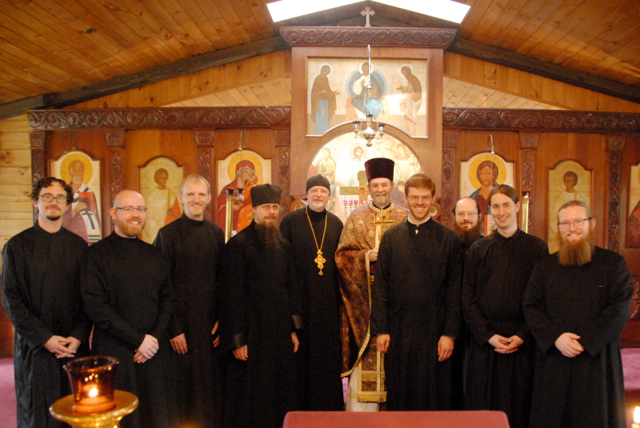 Hierodeacon Herman, Fr. John, Fr. Chad, and the members of the SVS Octet.