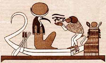 Thoth And The Human Represented By The Ape, Egyptian Magic
