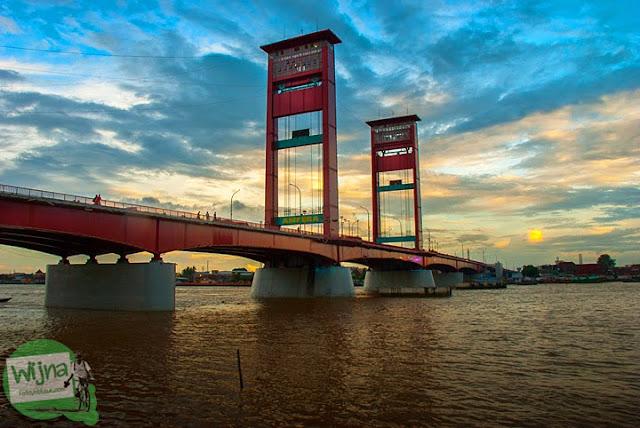 Menanti Senja di Tepian Sungai Musi Palembang tahun 2015