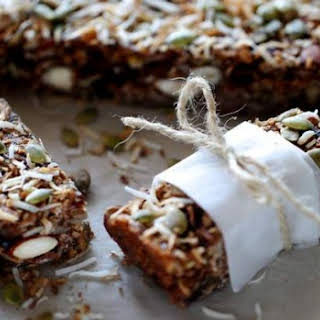 Cranberry, Oat And Almond Energy Bars.