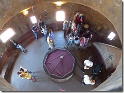 Watchtower, looking down to third floor,  Grand Canyon