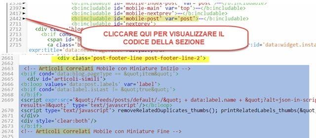 codice per il mobile widget articoli simili