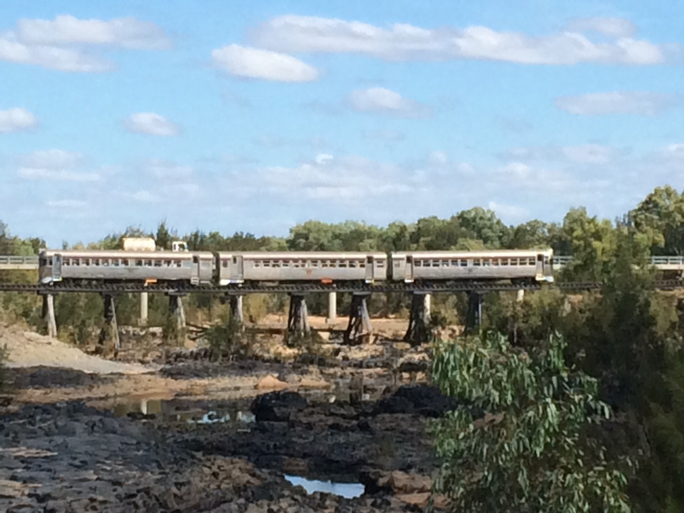 Savannahlander Train crossing Copperfield Gorge