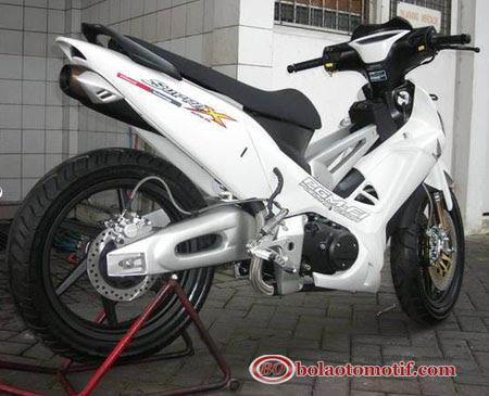 Modifikasi Extriem Motor Honda Supra X 125 b