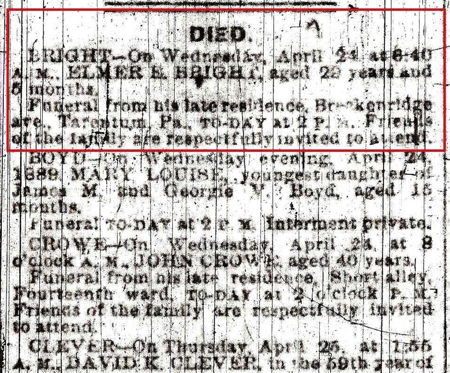 [BRIGHT_Elmer+E_Obit+CloseUp_from+Pittsburgh+Gazette_1889%5B4%5D]
