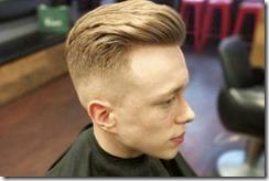 Stylist fade haircut men