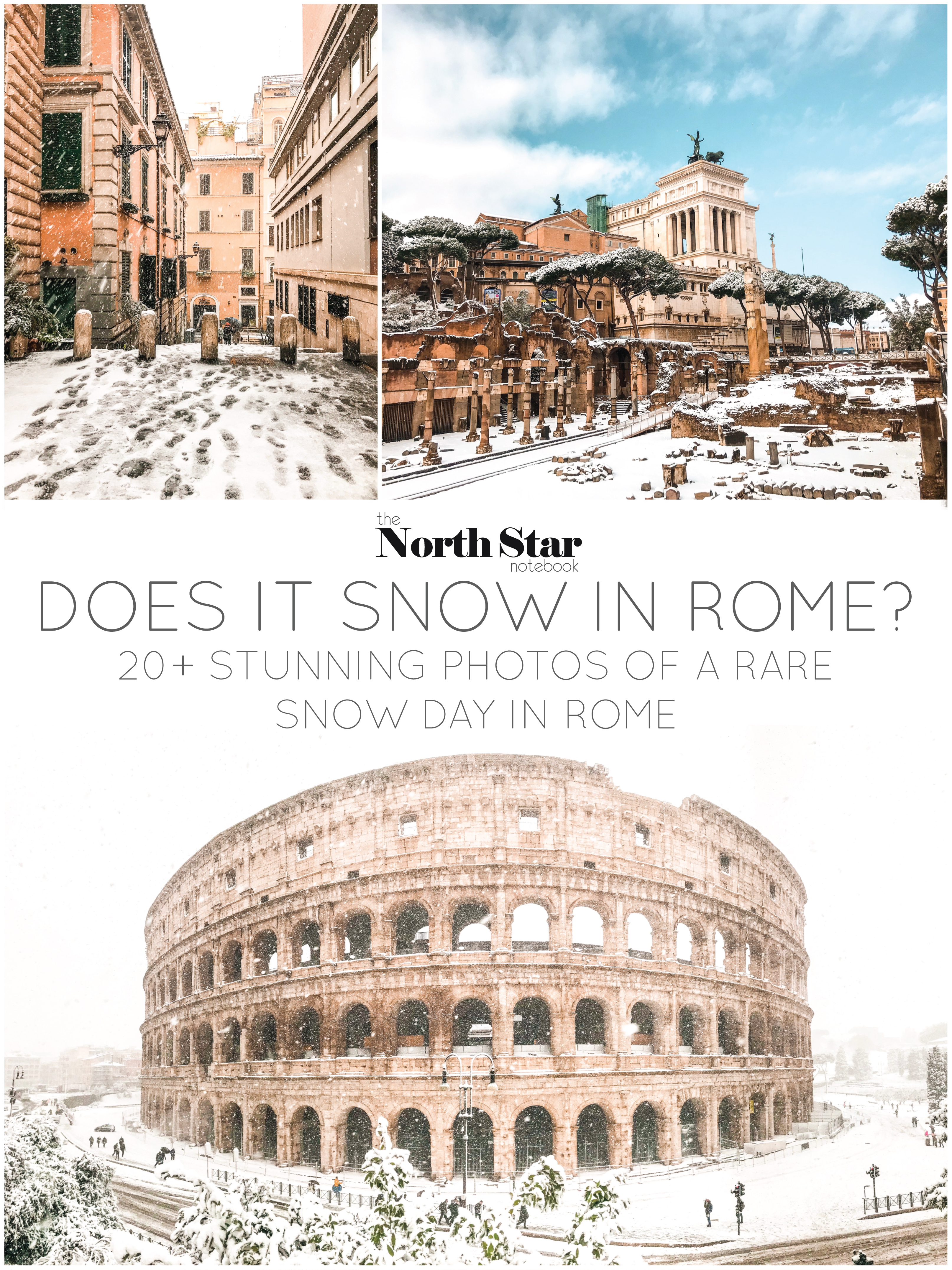 Does it Snow in Rome? 20+ stunning photos of a rare snow day in Rome