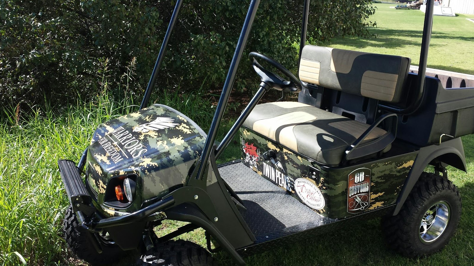Distinct Customs: Warriors for Freedom golf cart. Sponsored by His on golf trolley, golf games, golf hitting nets, golf machine, golf buggy, golf girls, golf players, golf handicap, golf cartoons, golf card, golf words, golf tools, golf accessories,
