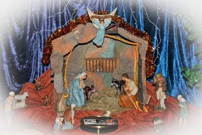 Weihnachtskrippe in der Klosterkapelle
