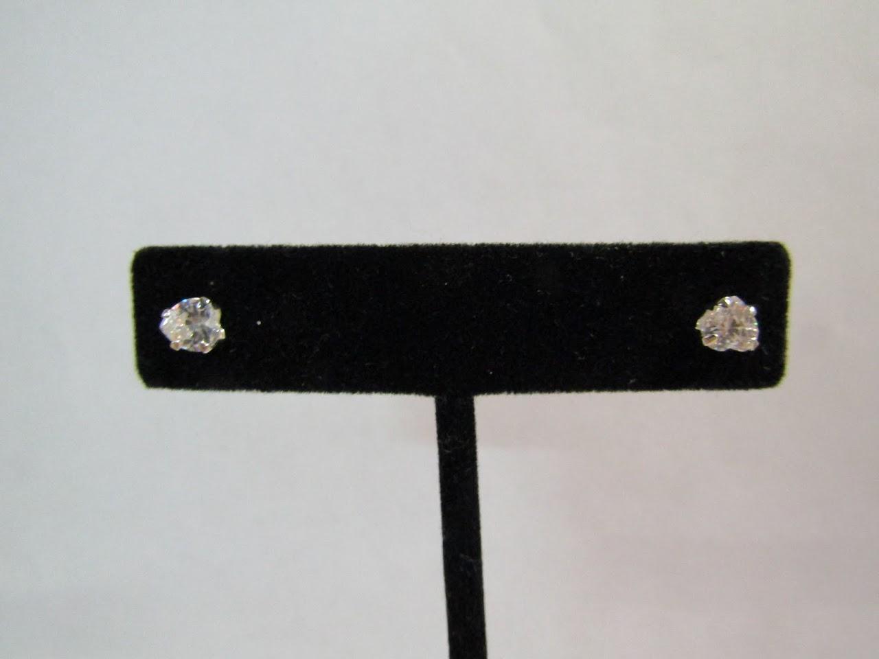 Sterling Silver & Stone Heart Earrings
