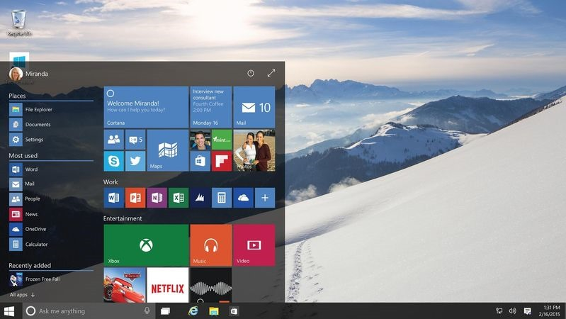 windows 10 advantages
