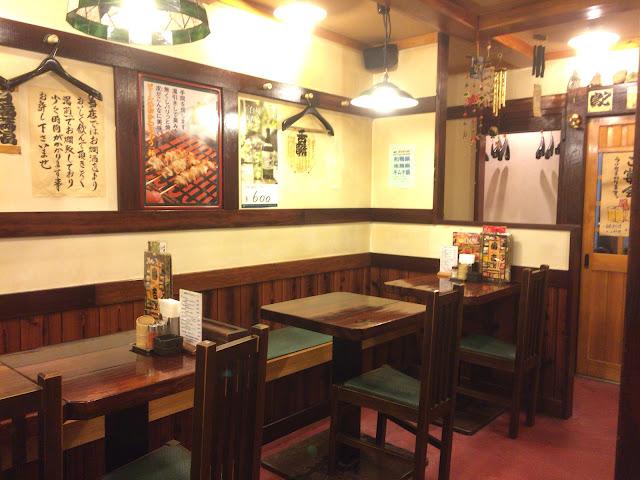 島根県松江市 やきとり 番吉 店内は焼き鳥の空気が!