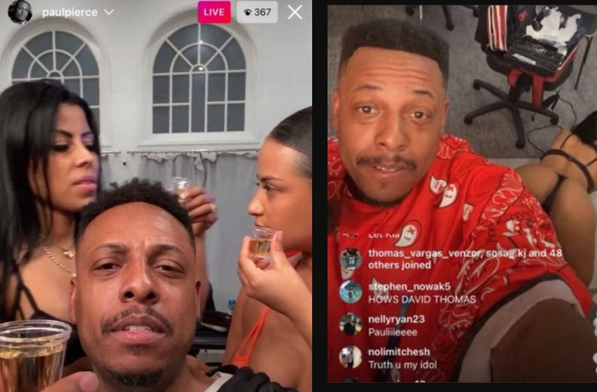 NBA legend, Paul Pierce fired by ESPN for racy Instagram Live video with strippers (Photos/ Videos)