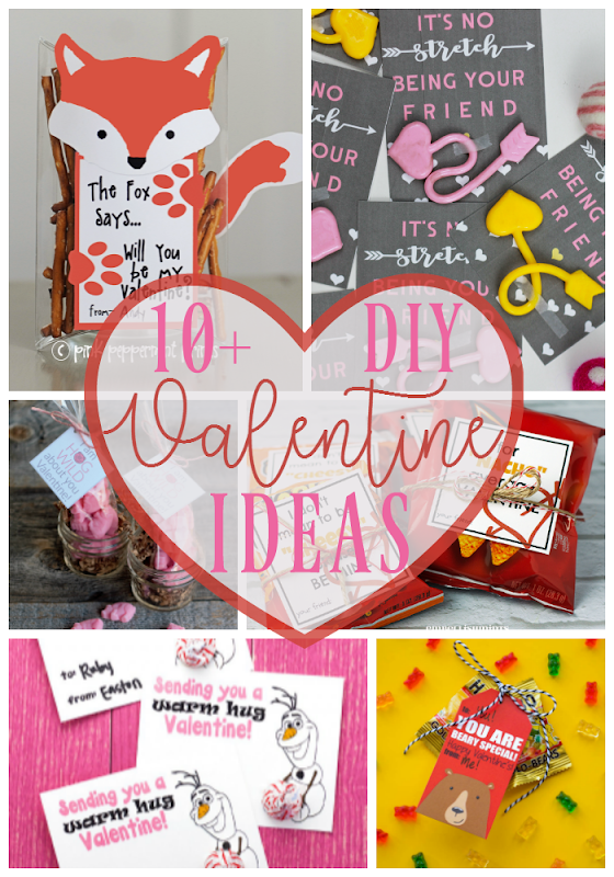 10  DIY Valentine Ideas at GingerSnapCrafts.com #DIY #Valentine #ValentinesDay