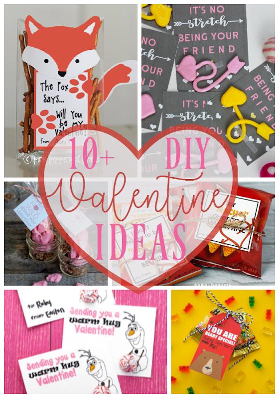 10  DIY Valentine Ideas at GingerSnapCrafts.com #DIY #Valentine #ValentinesDay