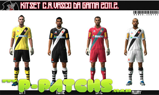 Vasco da Gama 11-12 Kitset para PES 2011 PES 2011 download P-Patchs