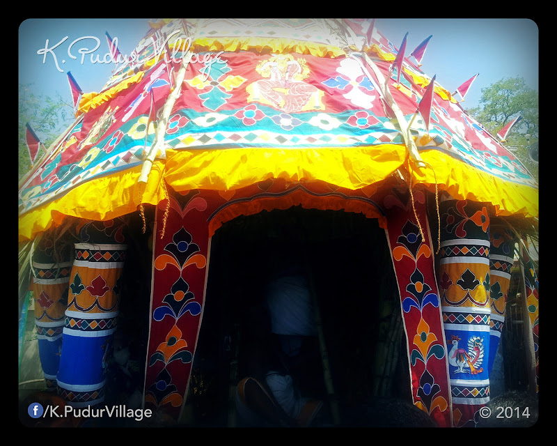 K.Pudur Village Chariot festival 2014 (Chariot closeup photo)