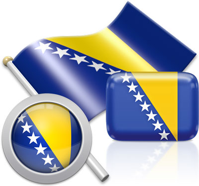 Bosnian  flag icons pictures collection