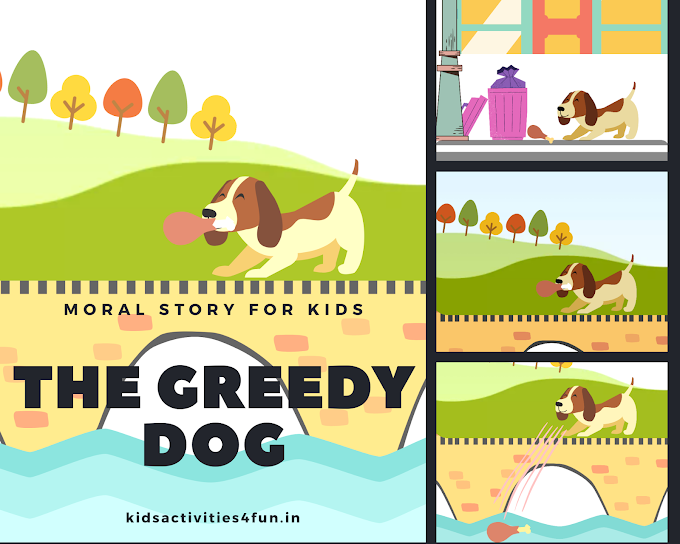 The Greedy Dog||Moral story for kids||Must read for every kid/stories for kids🐕🦴