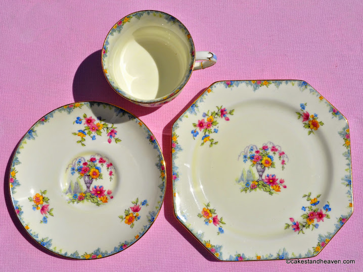 1932 Paragon China teacup, saucer, tea plate