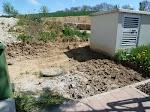 Vorm Haus wurde weiter gegraben