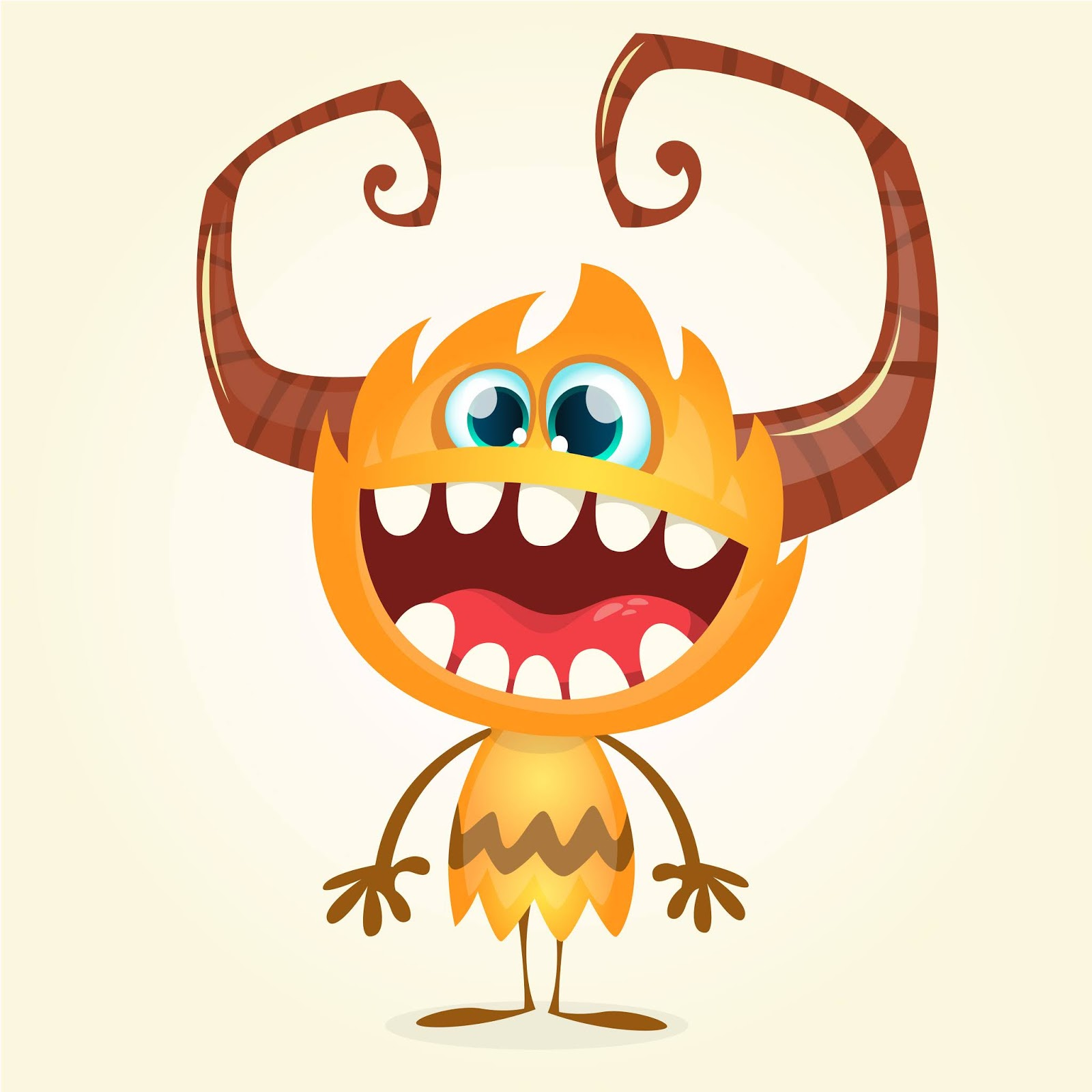 Funny Cartoon Monster Halloween Free Download Vector CDR, AI, EPS and PNG Formats
