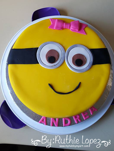 Minion cake - Ruthie Lopez - My Hobby My Art