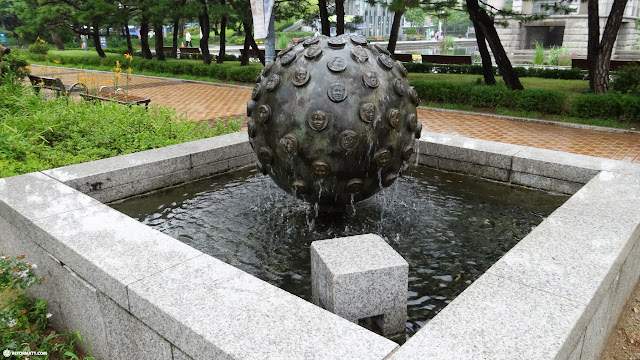 interesting art outside of the War Memorial of Korea in Seoul in Seoul, Seoul Special City, South Korea