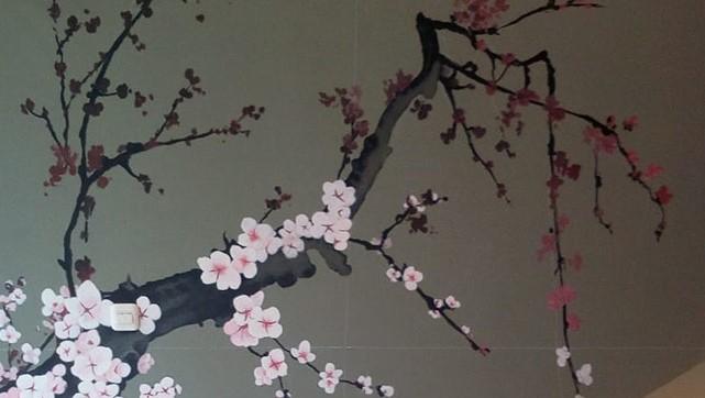 Jasa Lukisan Mural Bunga Terbaru