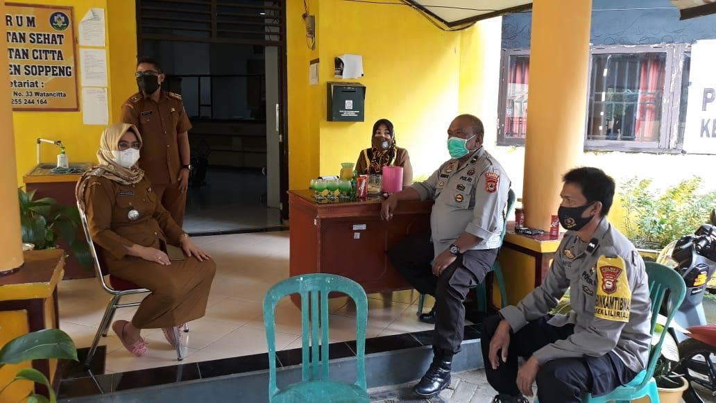 Kapolsub Sektor Citta Polsek Liliriaja Polres Soppeng Kunjungan Silaturahmi di Kantor Camat Citta