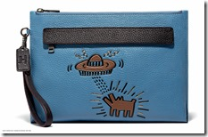 Glovetan Zip Card Case in UFO Dog Sky Blue (28719 NGO)