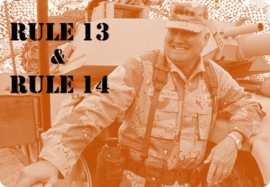 LI - Retired Gen. H. Norman Schwarzkopf - Rule 13 and Rule 14